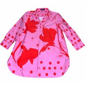 Piazza Sempione Italy Pink Cotton Shirt 48